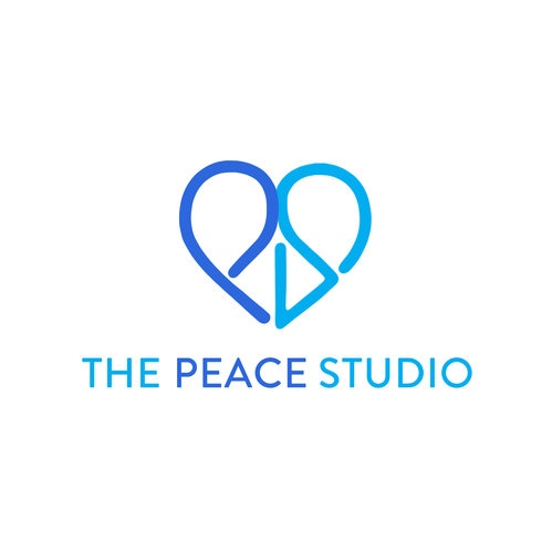 The Peace Stiudio Logo, P and S forming a heart