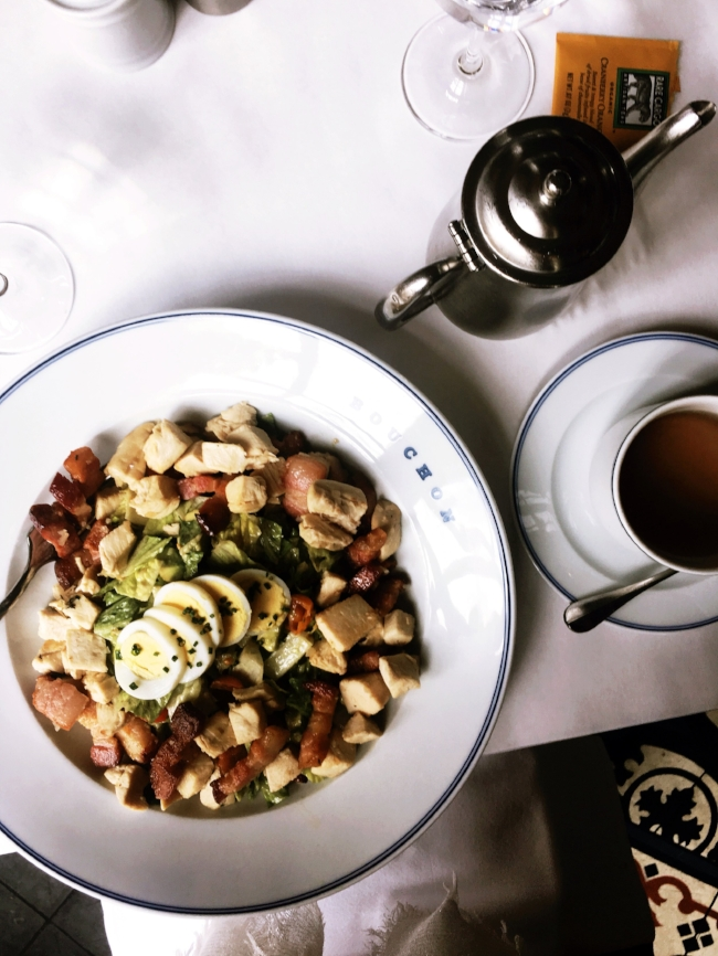 I might have woke up crying on my birthday, but at least I got to eat this awesome Cobb salad at Bouchon.