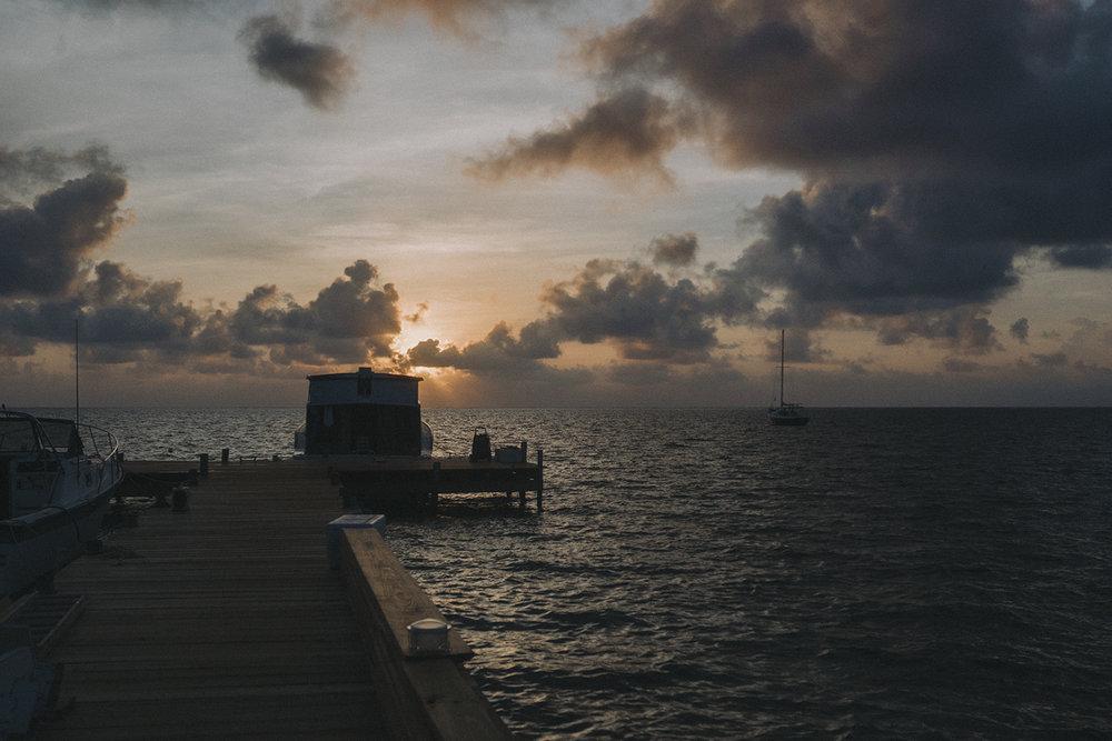sunrise belize island life caye caulker travel photography
