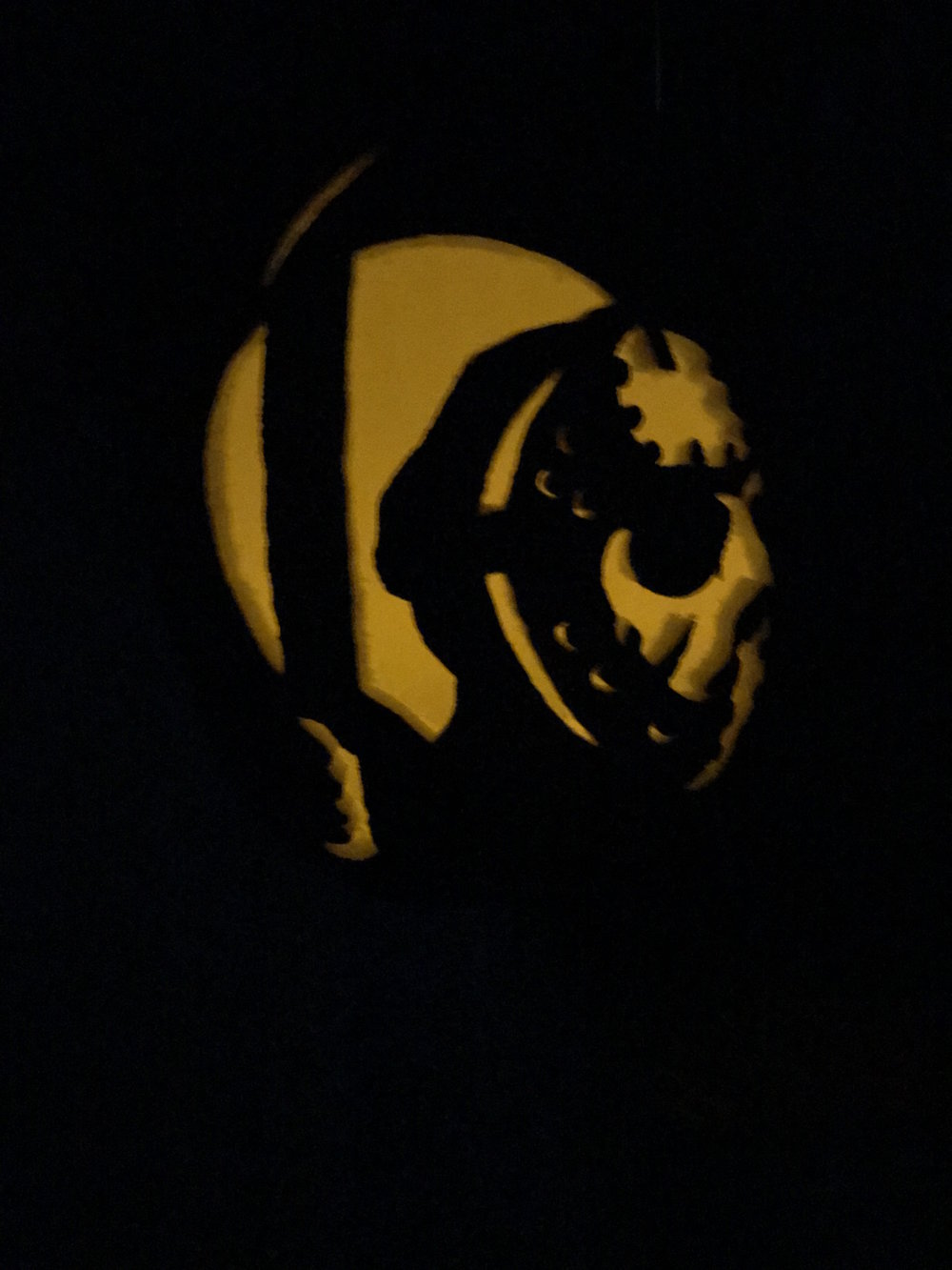 Jason Voorhees Pumpkin