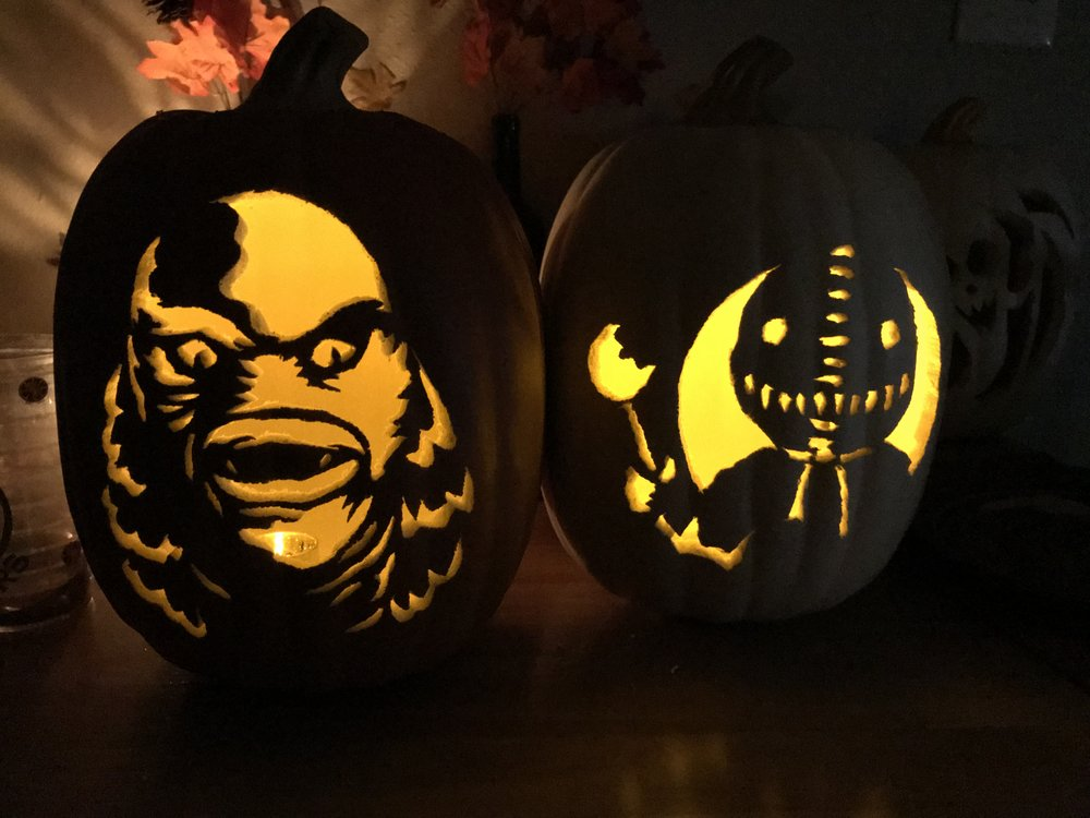 The Gill Man and Sam Pumpkins