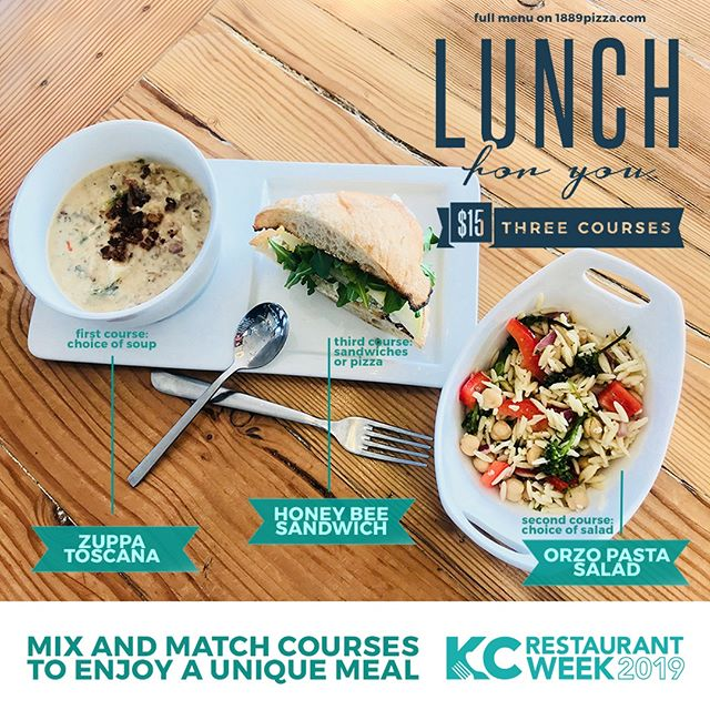 Hungry? We have your lunch plans covered. Three courses, new menu items, just $15. Dine out and do good for #KCRW2019.