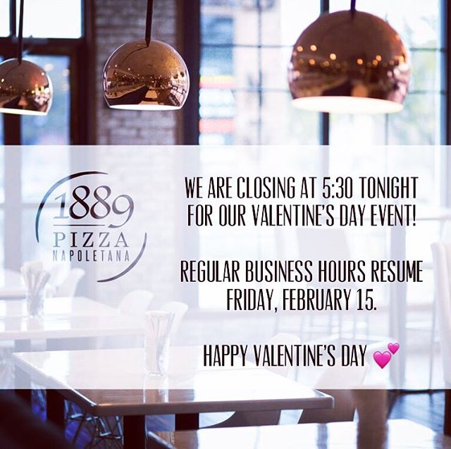 We close tonight at 5:30 pm for our SOLD OUT Valentine's Day class. We will see you tomorrow 😘