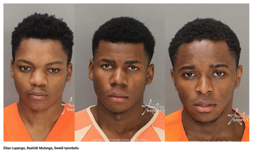 "Black Tanzanian adult teens suspected of ""gang rape"" in Boise, Idaho."