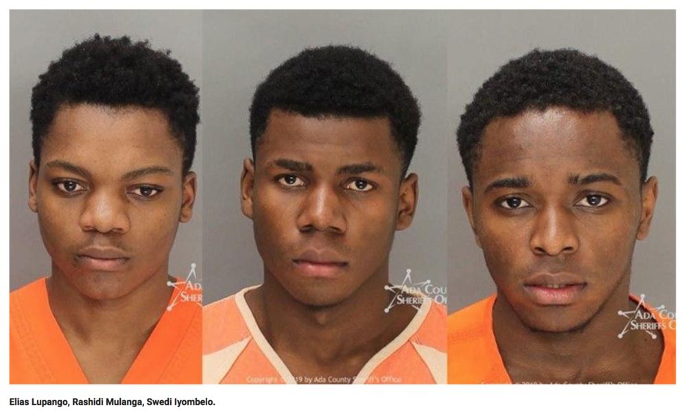 "Black Tanzanian adult teens suspected of ""gang rape"" in Boise, Idaho."