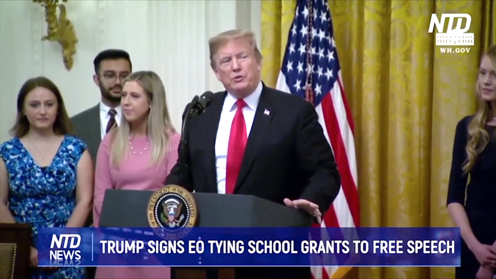 ( Epoch Times ) Trump Signs Executive Order Protecting Free Speech on College Campuses