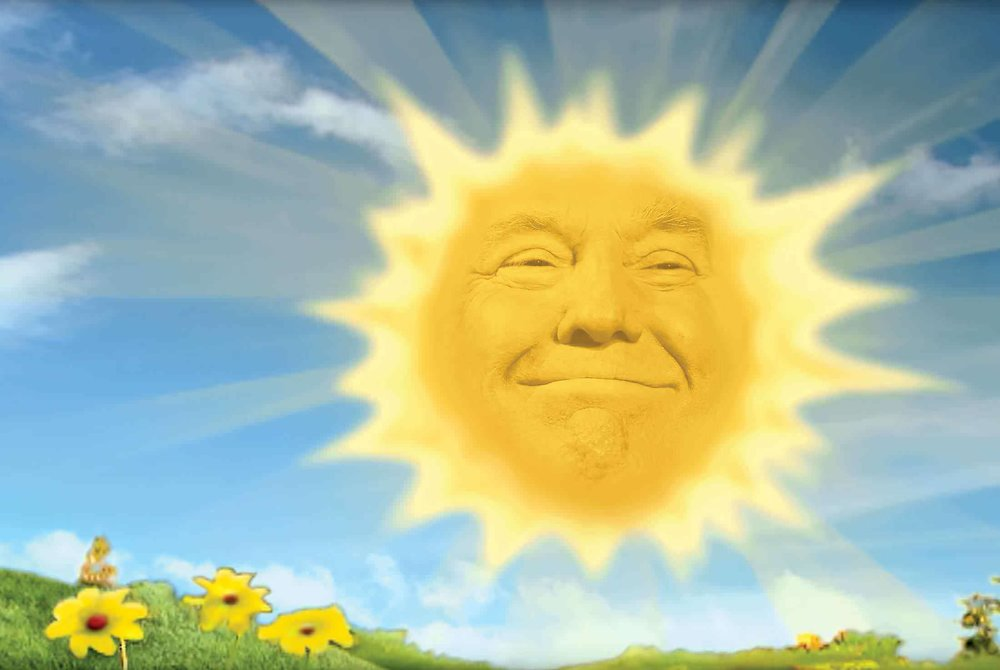 """Sunny Side of Trump"" – taken from a Bloomberg tweet and Reddit."