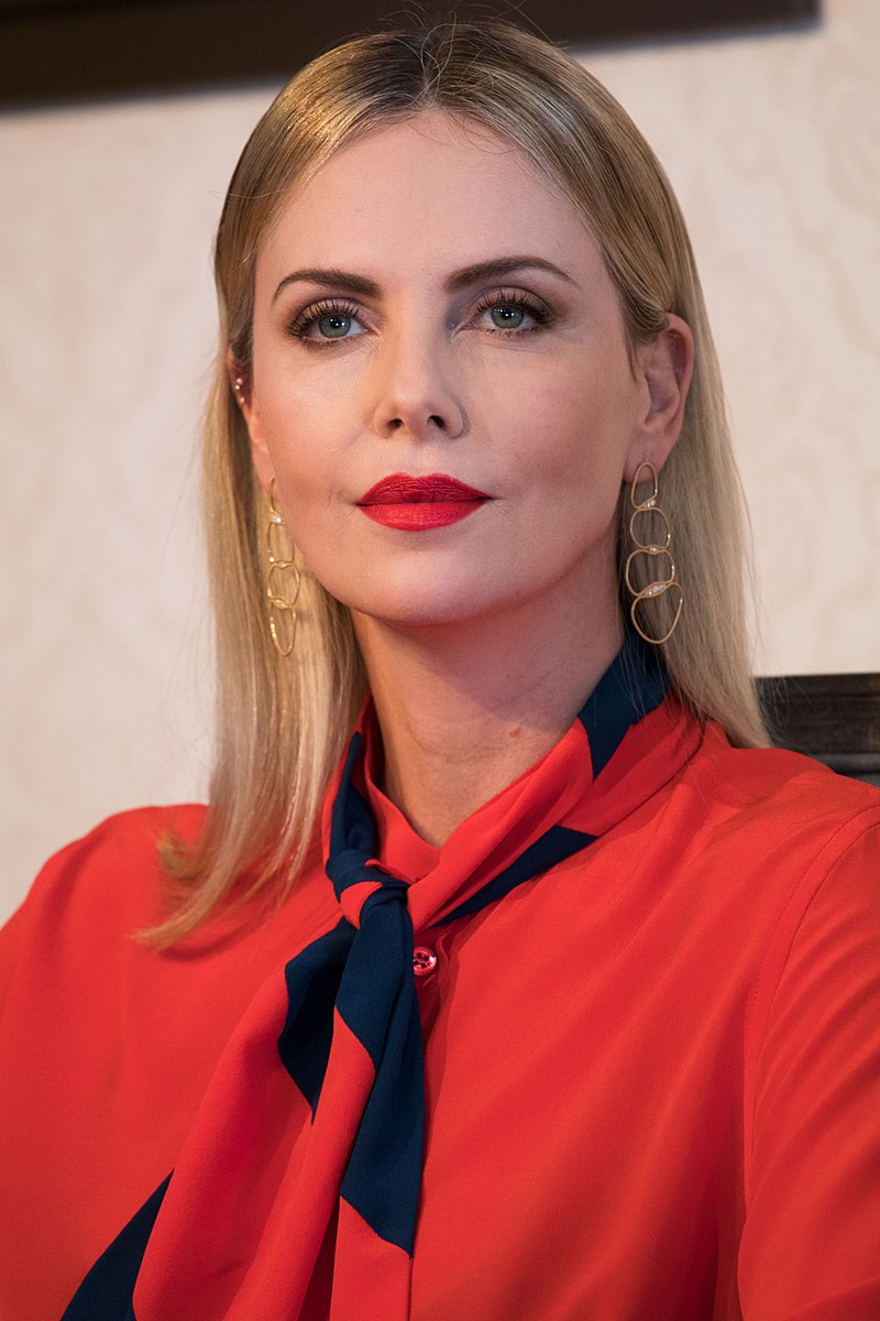Photo from  Wikipedia , Creative Commons: Charlize Theron at the Global Education and Skills Forum 2018 in Dubai. March 17, 2018, interviewed by Varkey Foundation CEO Vikas Potas.