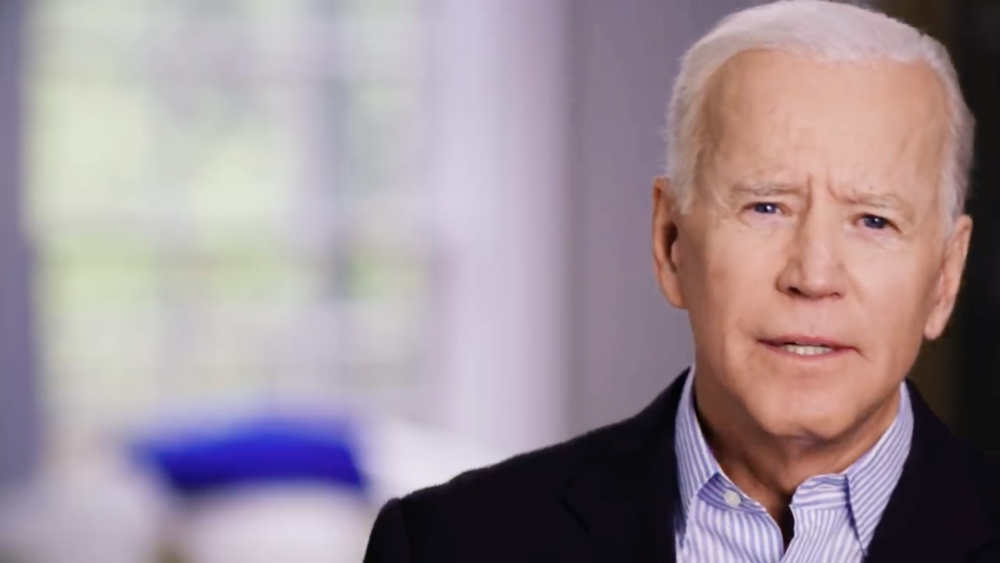 ( YouTube / Twitter ) Joe Biden's dumb announcement, running for president, making false accusations against white Unite the Right demonstrators in Charlottesville and against President Trump.