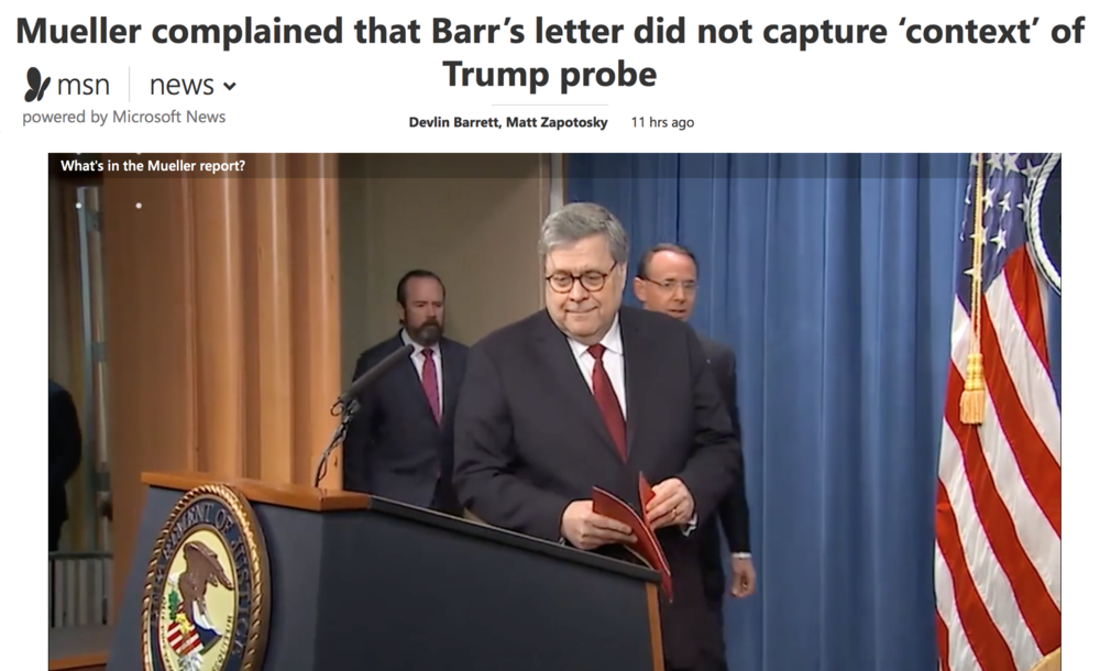 b10fb92c799a25 ( MSN   Wash. Post) Mueller complained that Barr s letter did not capture