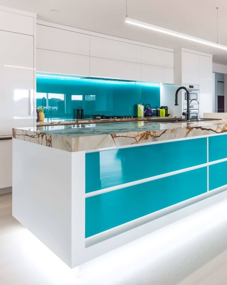 Painted Glass Splashbacks -