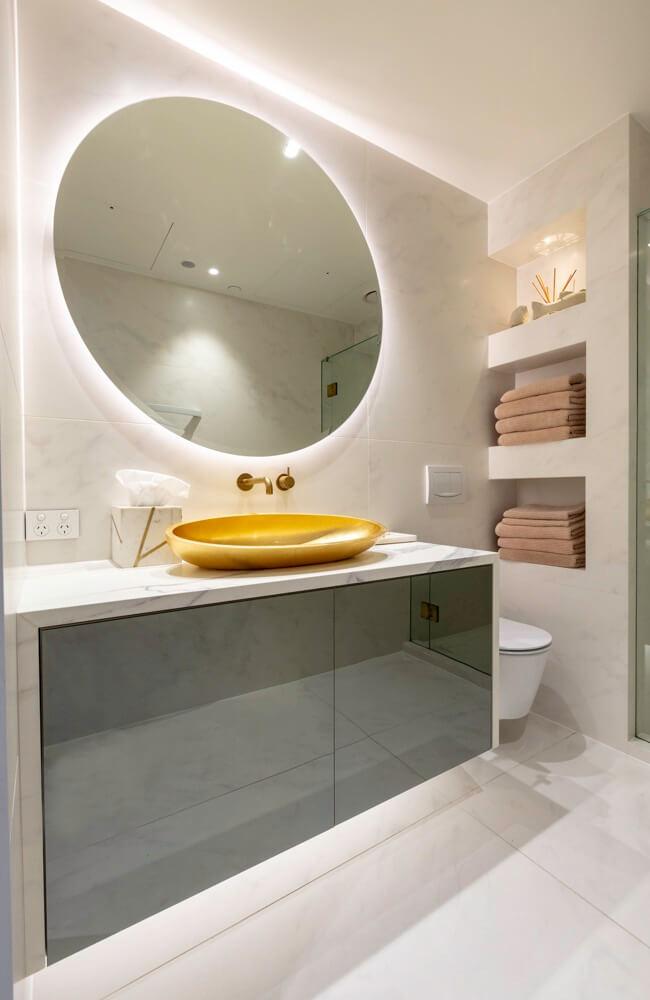 Smokey Mirror Cabinetry