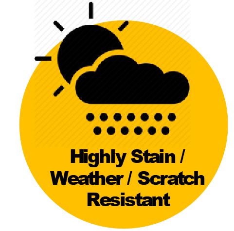 Highly Stain & Weather Resistant