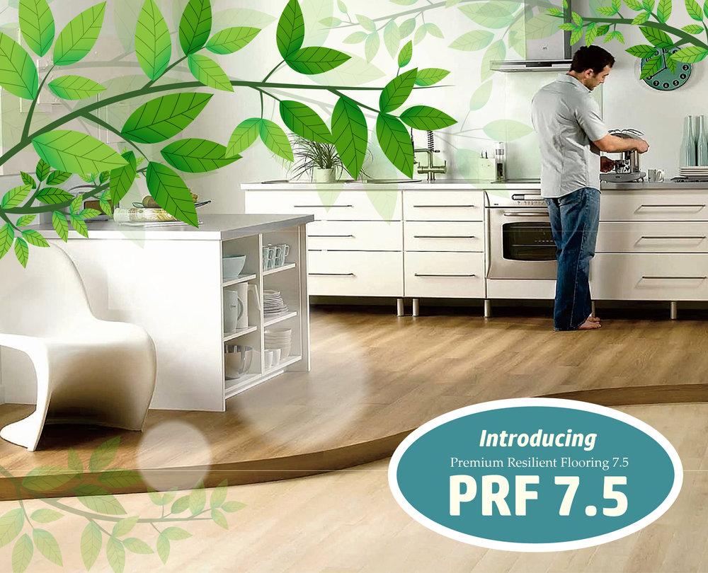 NBL PRF 7.5  is made of polymaterials and virgin vinyl pulp which are shaped by the process of extrusion, making it more stable and durable, topped with 100% waterproof performance. With specialised Green UV Treatment, its stain resistance, anti bacterial and waterproof properties are highly enhanced - promoting good indoor air quality. Fireproofing grade can also reach EN Class Bf1-S1.   Patented wear layer technology keeps flooring decor film looking new & lasts longer by resisting everyday scratches;  NBL PRF 7.5 's durable and anti-abrasion can be over 6000 revolutions of EN standard.  NBL PRF 7.5 's attached underlayment provides added sound insulation, naturally resists molds and mildew & absorbs subfloor imperfections.