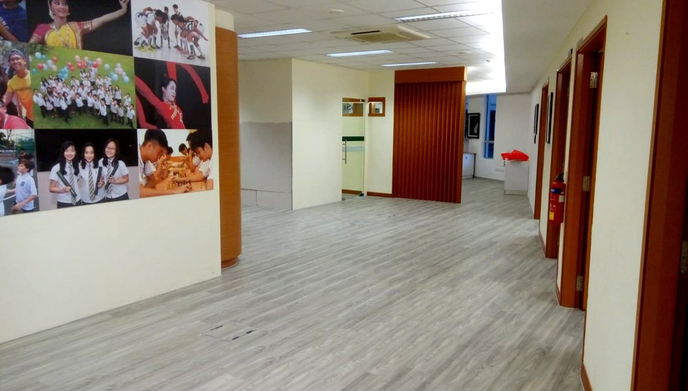 NBL Premium Reisilient Vinyl Flooring @ St. Joseph's Institution International