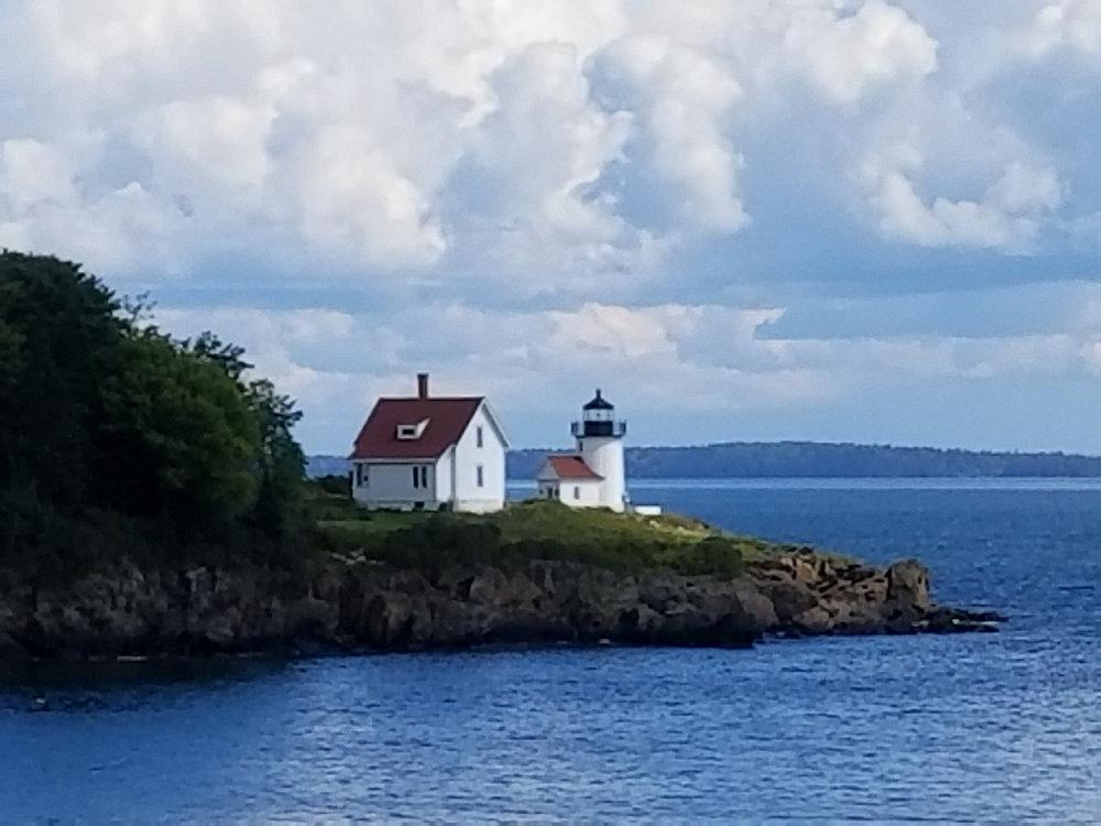 Closeup of Curtis Island Lighthouse