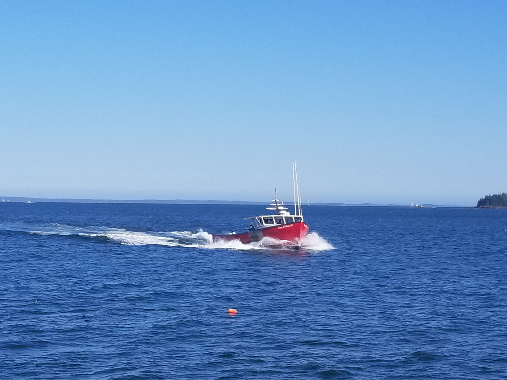 Lobster Boat from Breakwater Lighthouse