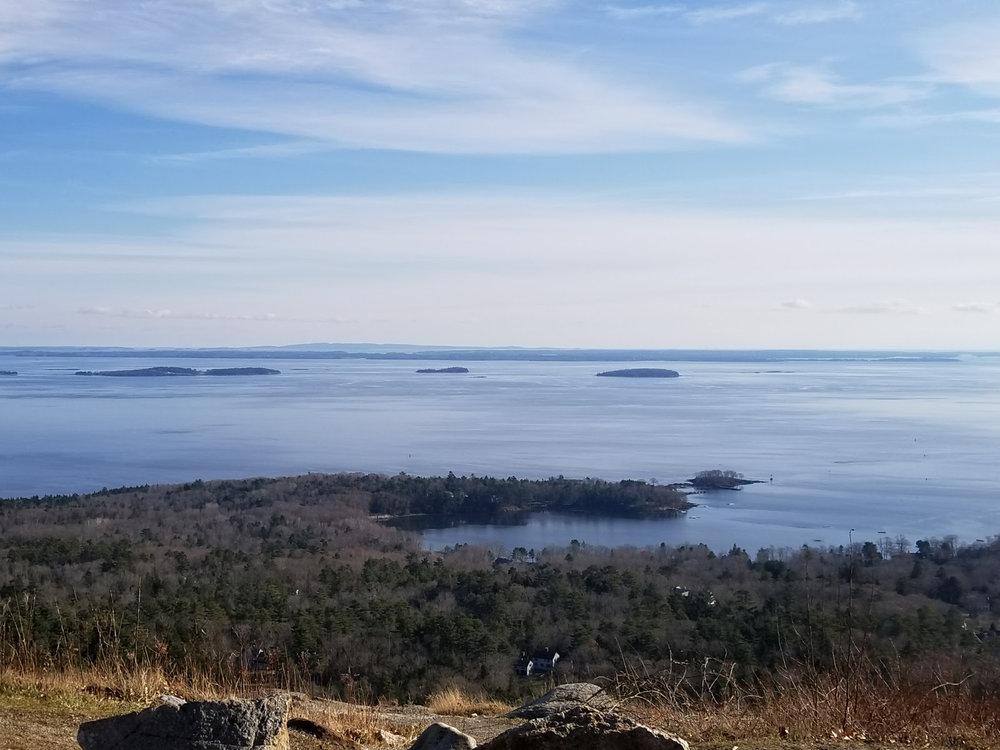 View of Penobscot Bay from Mt. Battie in December