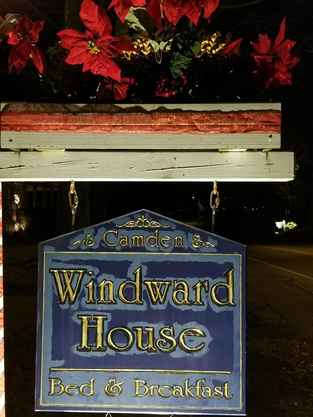 Camden Windward House Sign at Christmas