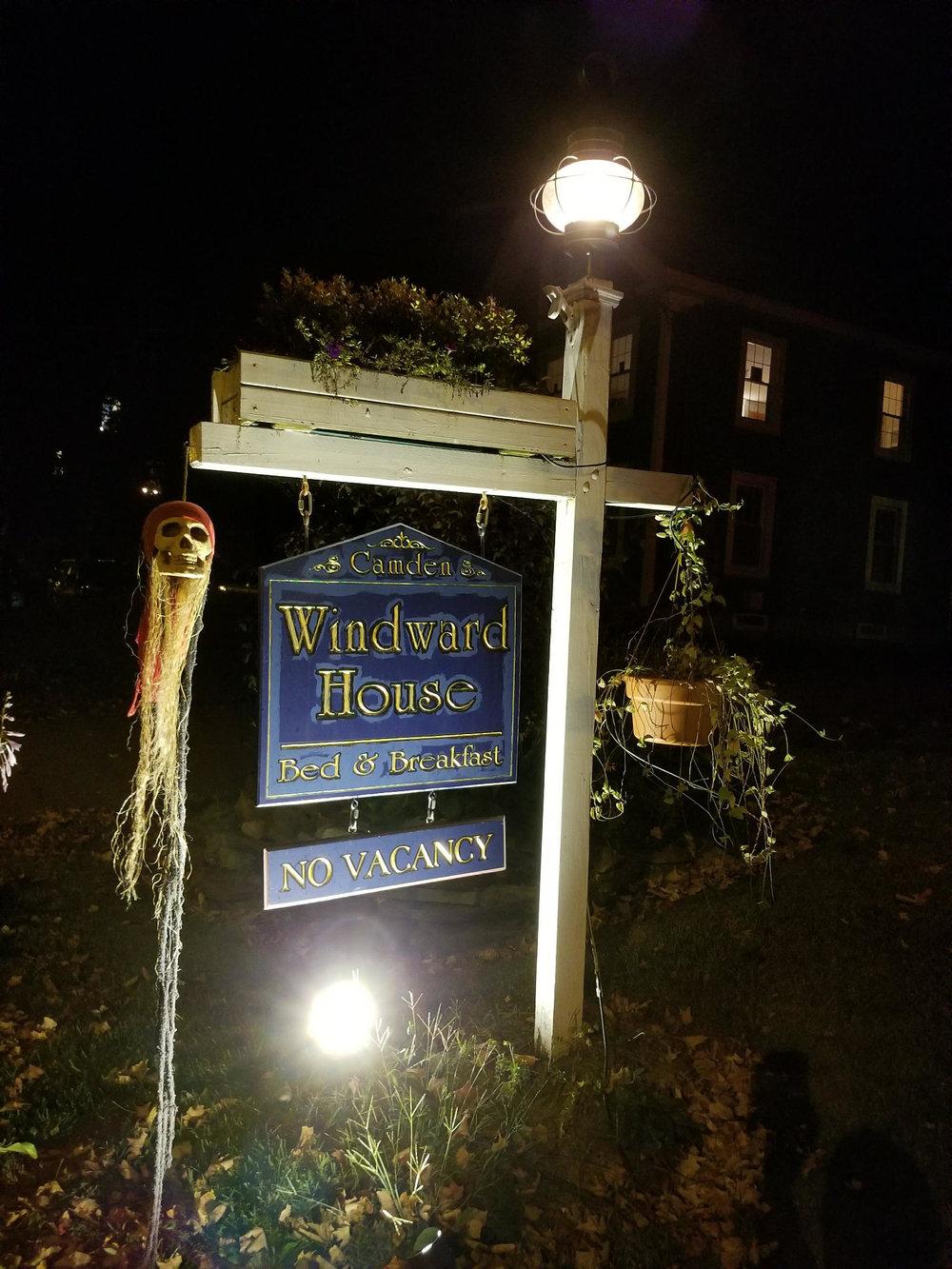 Haunted Camden Windward House sign