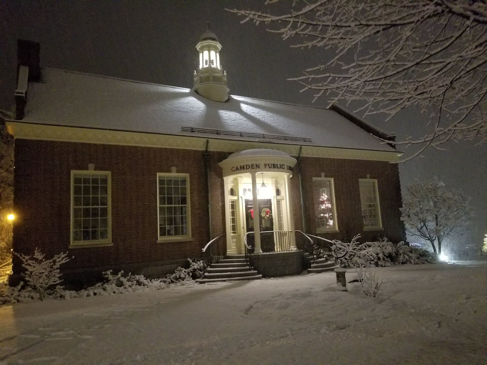 Camden Public Library in the Winter