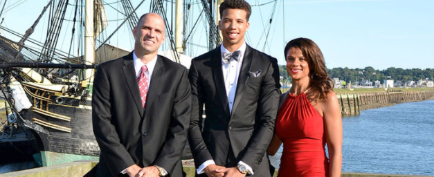 Michael Carter Williams with his parents. His mother is also his full time manager