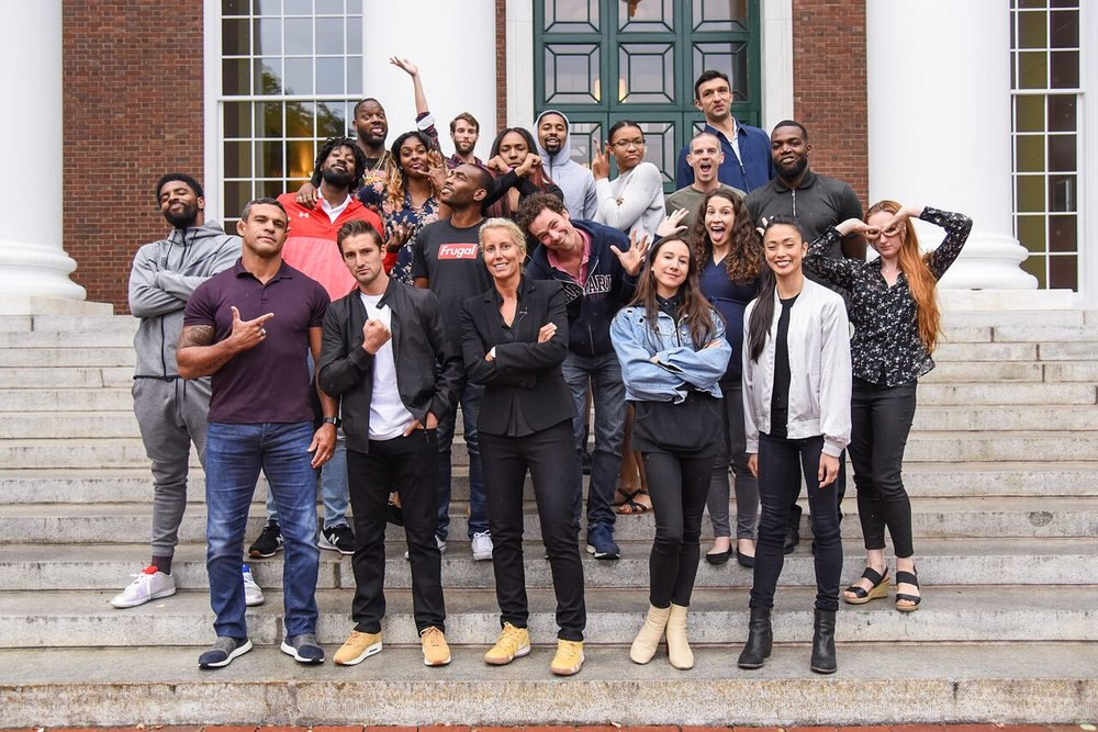 Players from the NBA, NFL, MLS, WNBA, UFC, and ABT all take part in the fall CrossOver Into Business Program at Harvard Business School