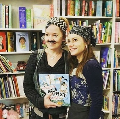 Katrin & author Michelle Worthington at a launch event