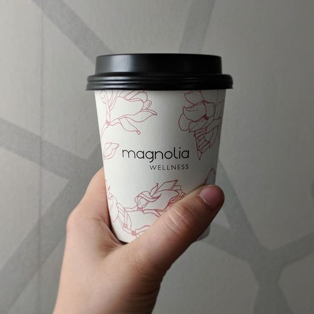 I'm so happy to share the latest cup design for my dear friends @magnoliawellnessoc in Costa Mesa. This place has brought so much healing to my body AND soul and the founder, Angela, has big plans in store 🙏🏼 This Friday, you can fill this bad boy with a yummy cocktail at their Grand Opening Celebration! 🥂#cheerstowellness #becheerfull #madewithlove #coffeecup #partytime #magnolia #wellness #costamesa #costamazing