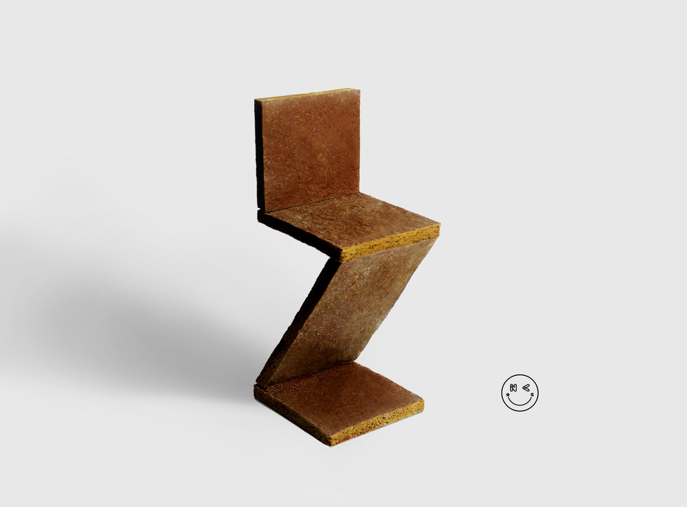 Zigzag Chair by Gerrit T. Rietveld