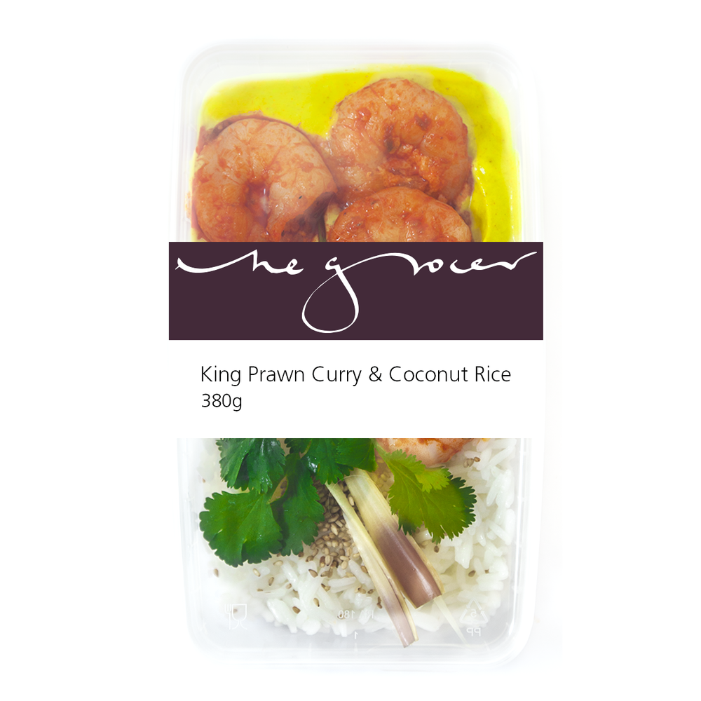 King Prawn Curry & Coconut Rice 380g - £8.50
