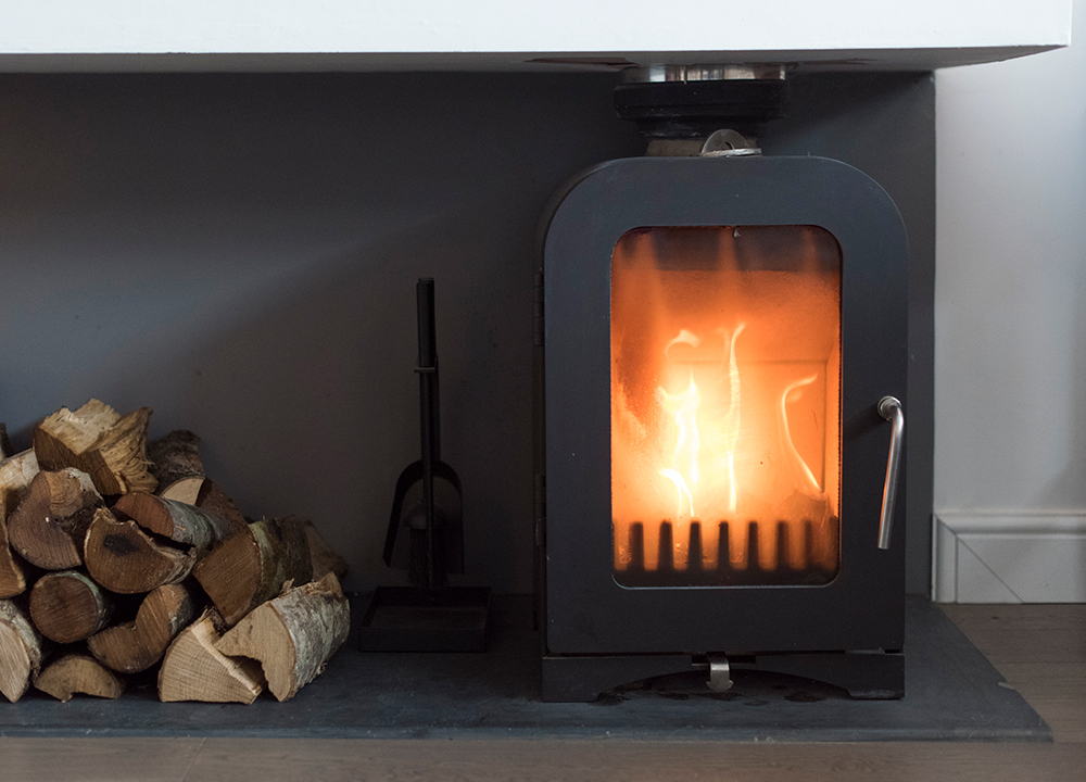Wood burning stove for cheerful winter nights