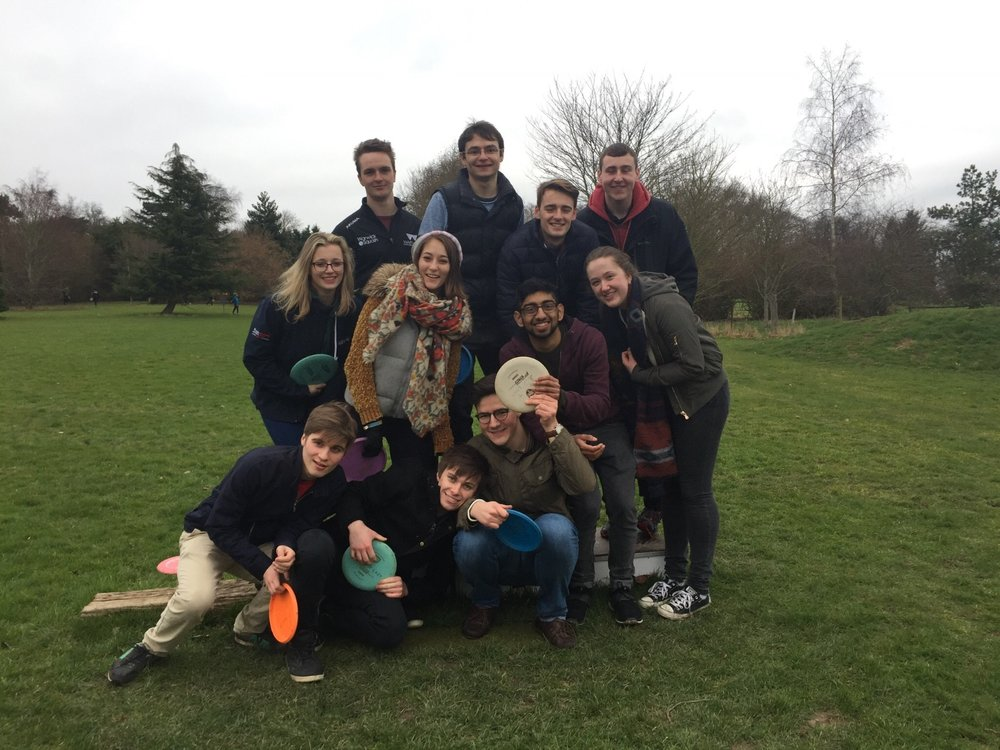 Reading week social to Frisbee Golf in Leamington