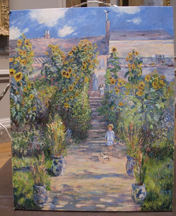 Superbe Copy Of The Artistu0027s Garden At Vétheuil By Claude Monet