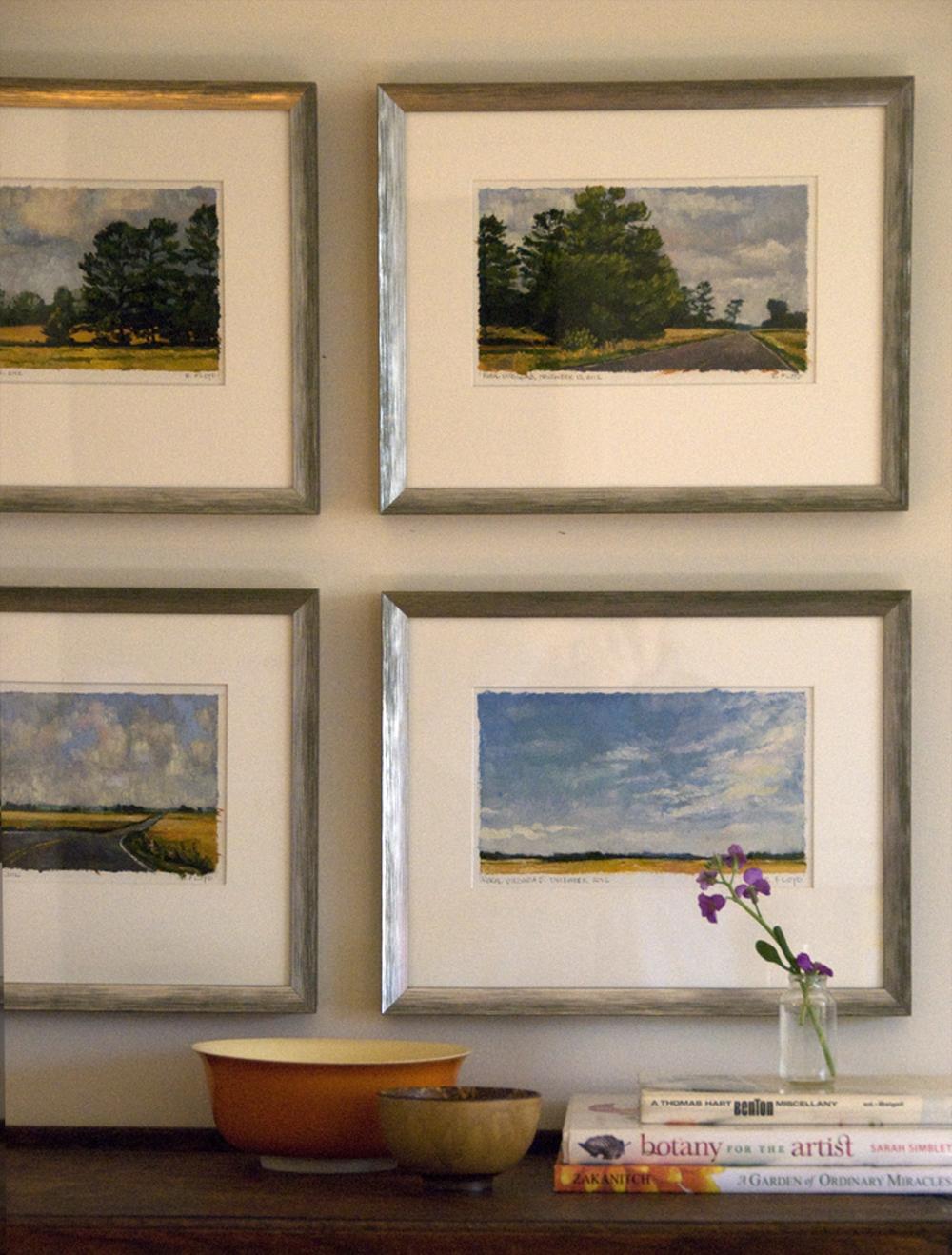 framed landscape paintings by elizabeth floyd
