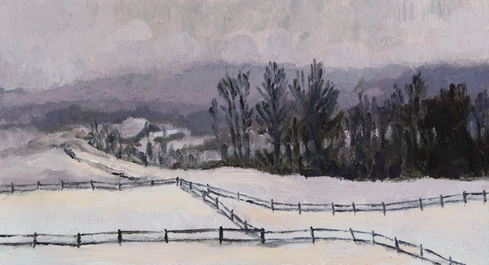 Snowy Vermont Farmland 2