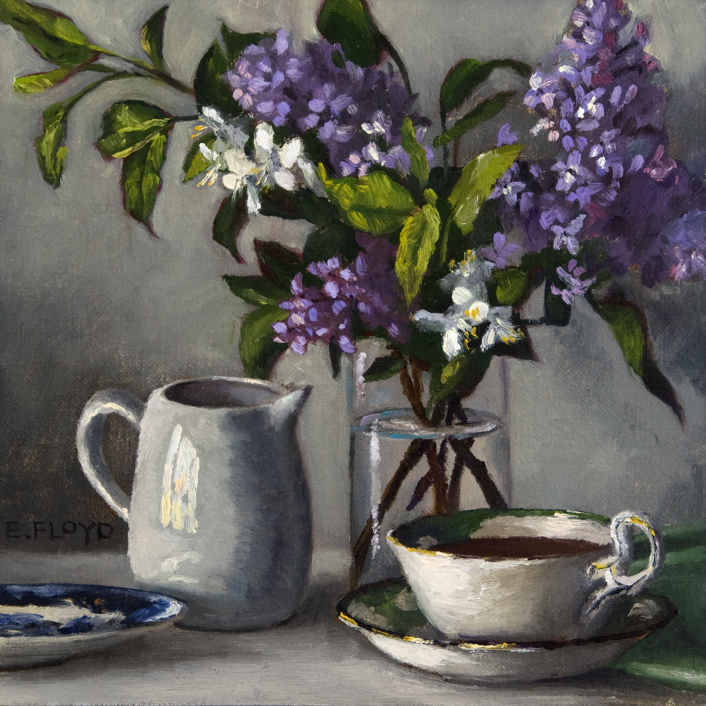 Morning Coffee and Lilacs