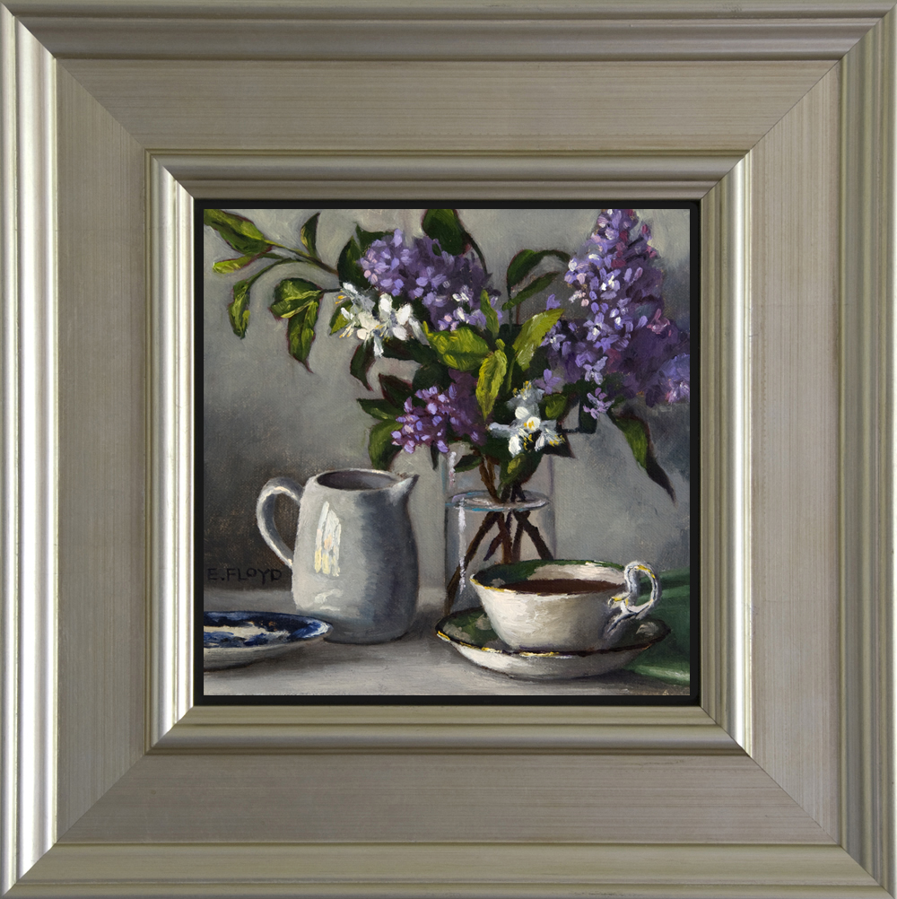 Morning Coffee with Lilacs - Framed