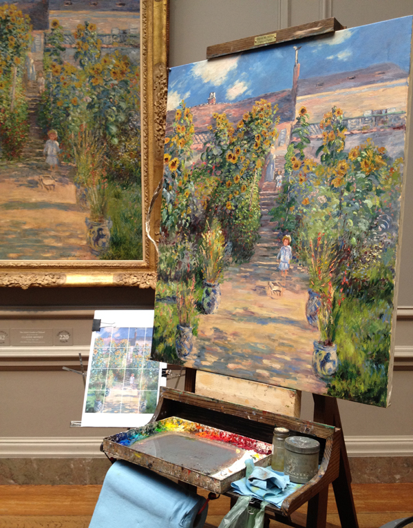 Copy of The Artist's Garden at Vétheuil by Claude Monet