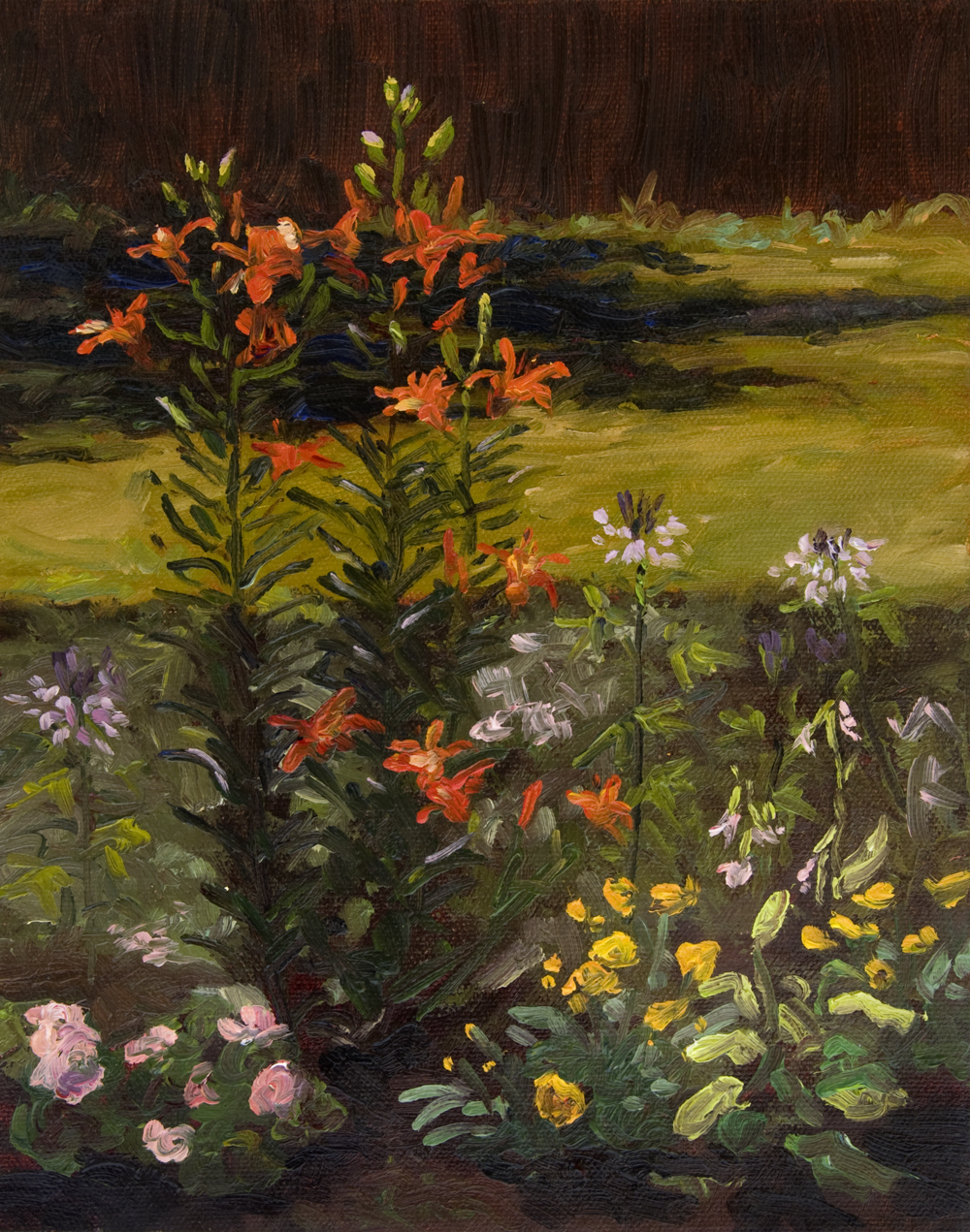 Lilies and Cleome