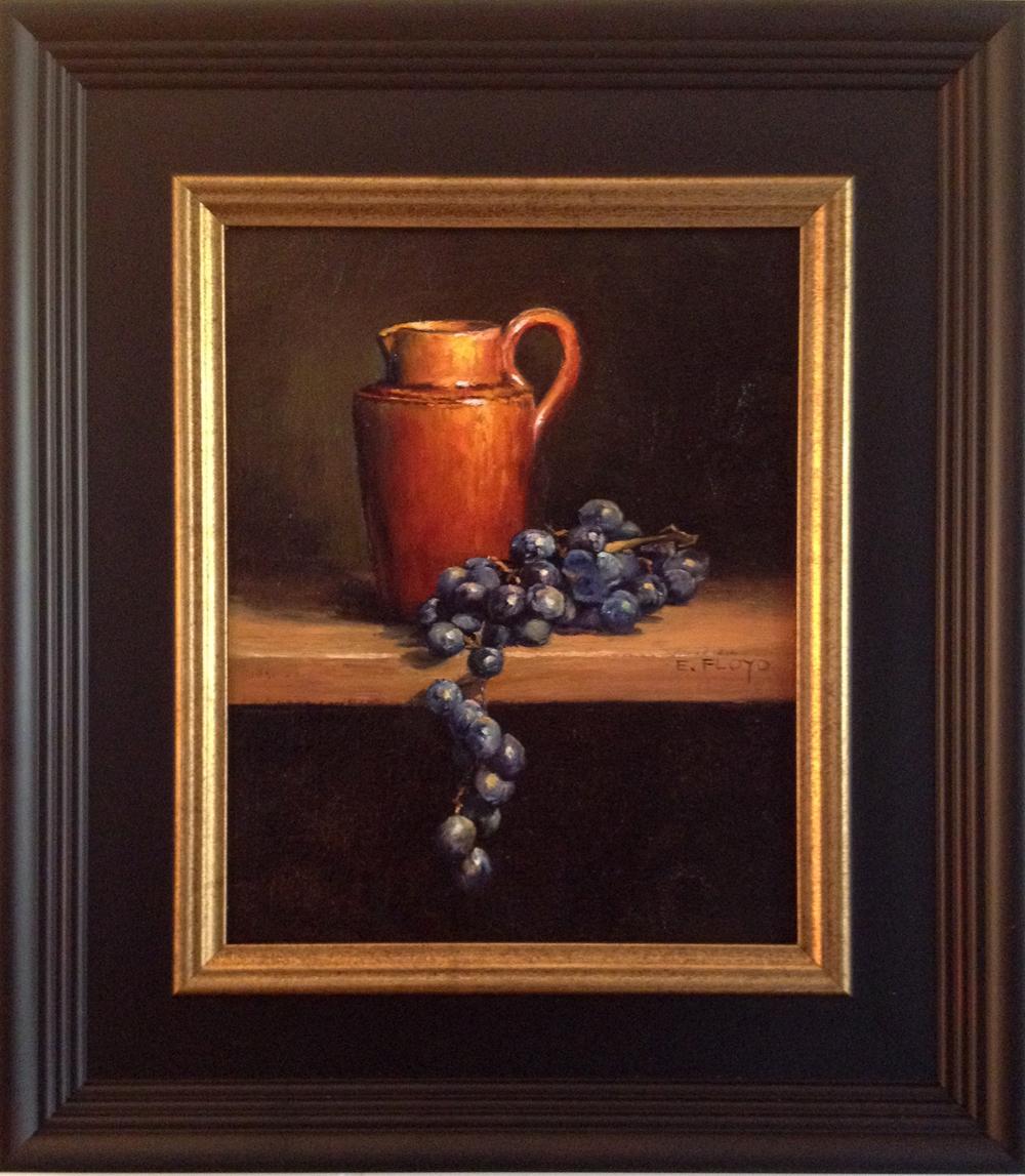 20140927-054 creamer and grapes - framed