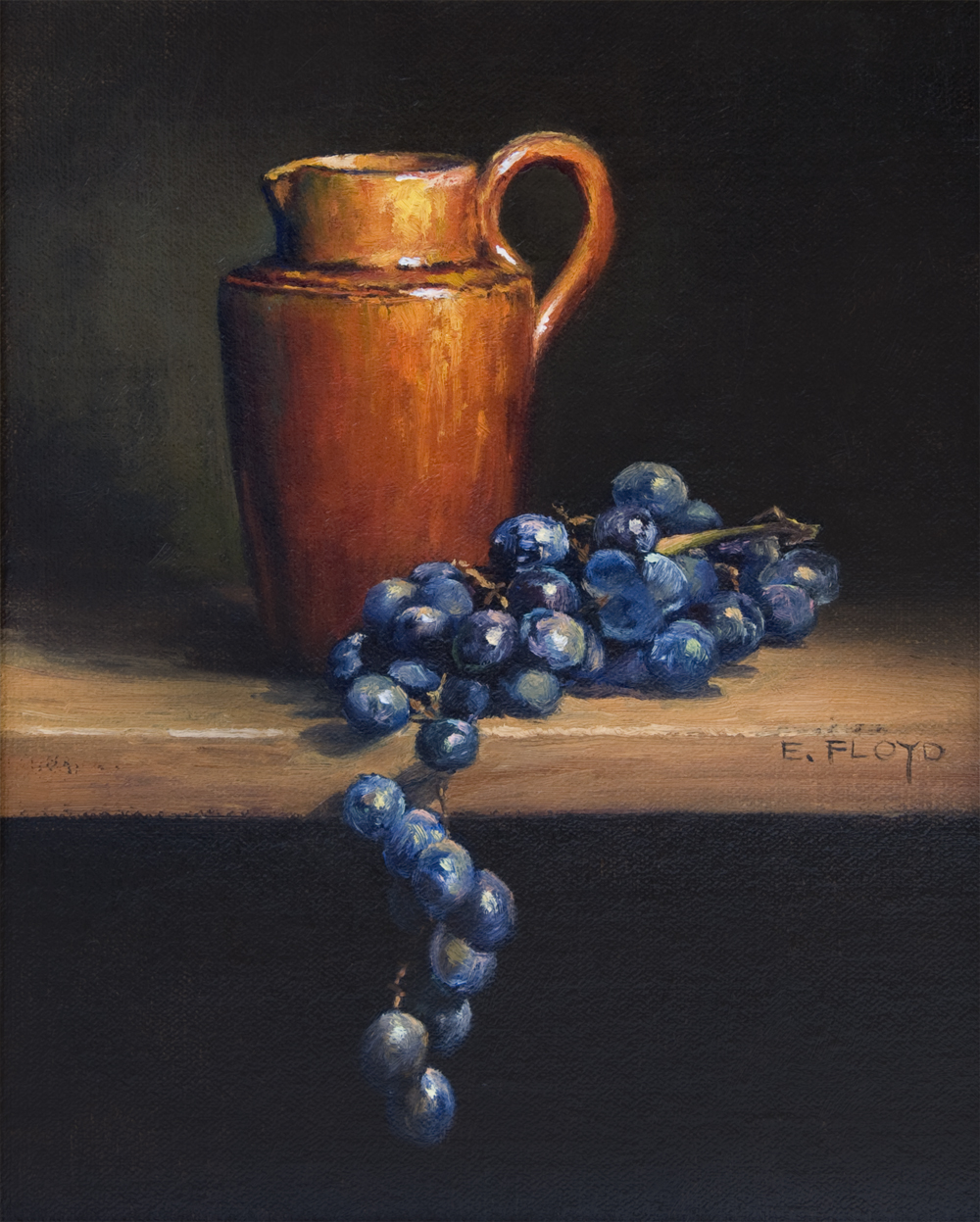 Still Life with Creamer and Grapes