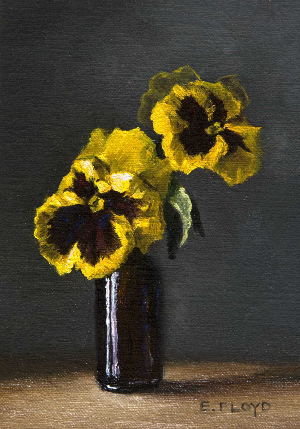 Colossus Yellow by Elizabeth Floyd, 7 x 5 inches, oil on linen panel