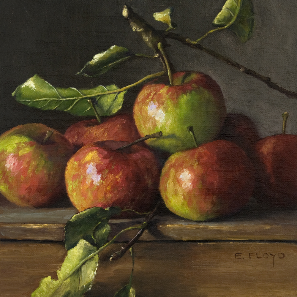 Heirloom Apples, 8 x 8 inches – oil on linen panel, In a Private Collection