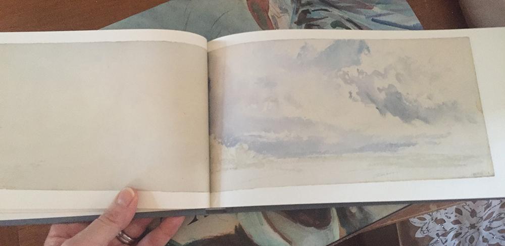 """The """"Skies"""" Sketchbook  by J.M.W. Turner"""