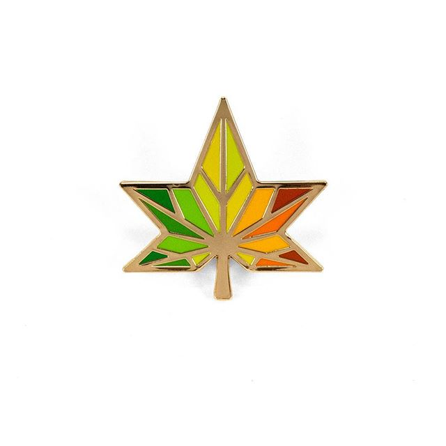 Got some new pins that just came in! First up is this star-shaped sweetgum leaf. 8-color hard enamel in shiny gold plating. Available now in the @etsy shop and soon to be listed in our web store 👏🏼👏🏼👏🏼