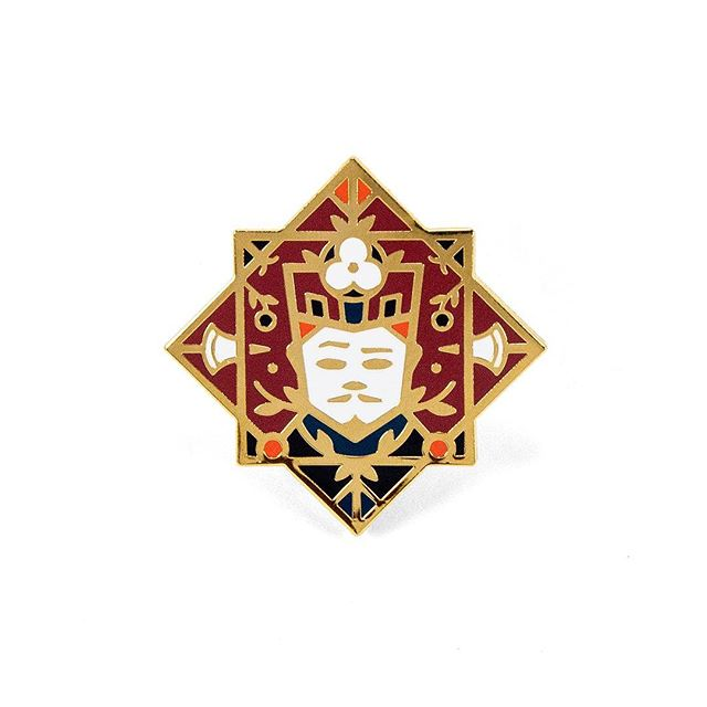 ** NEW PIN ** Jack of Diamonds 5-color hard enamel in shiny gold plating