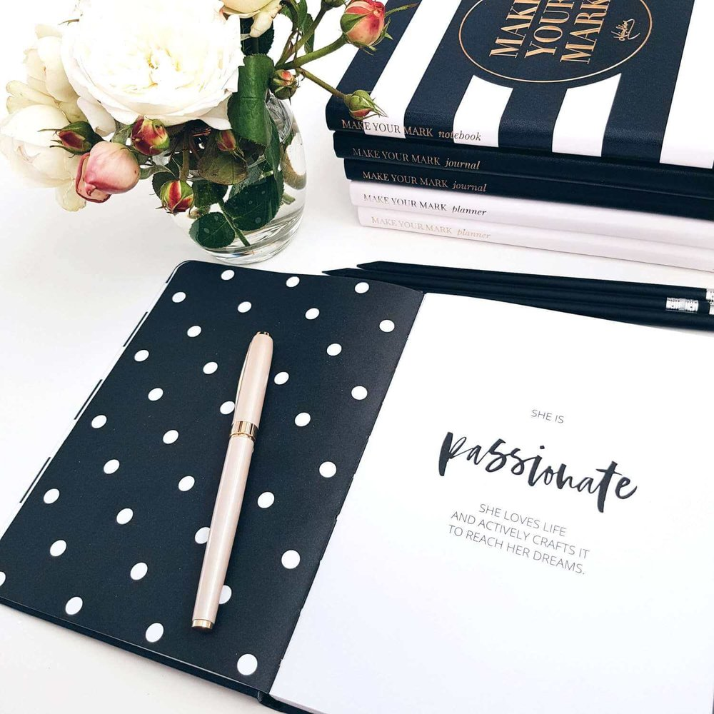 The Make Your Mark Collection - An elegant and inspirational notebook, a daily planner and a self-coaching journal that will help you create daily habits to nurture and empower the leader inside you.