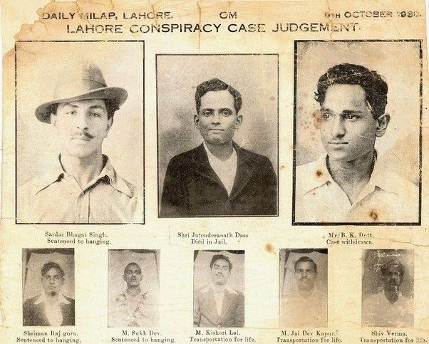 Bhagat Singh and members of the Hindustan Socialist Republican Army