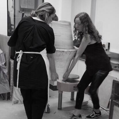 Assisting Hannah Tounsend in preparation for the British Ceramics Biennial , July 2017 (Photo: Dave Usher)